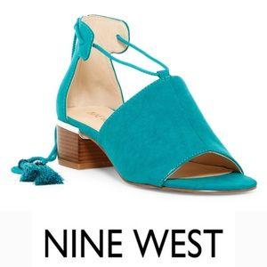 Nine West  / YeahYeah Block Heel Teal NWOB 8.5